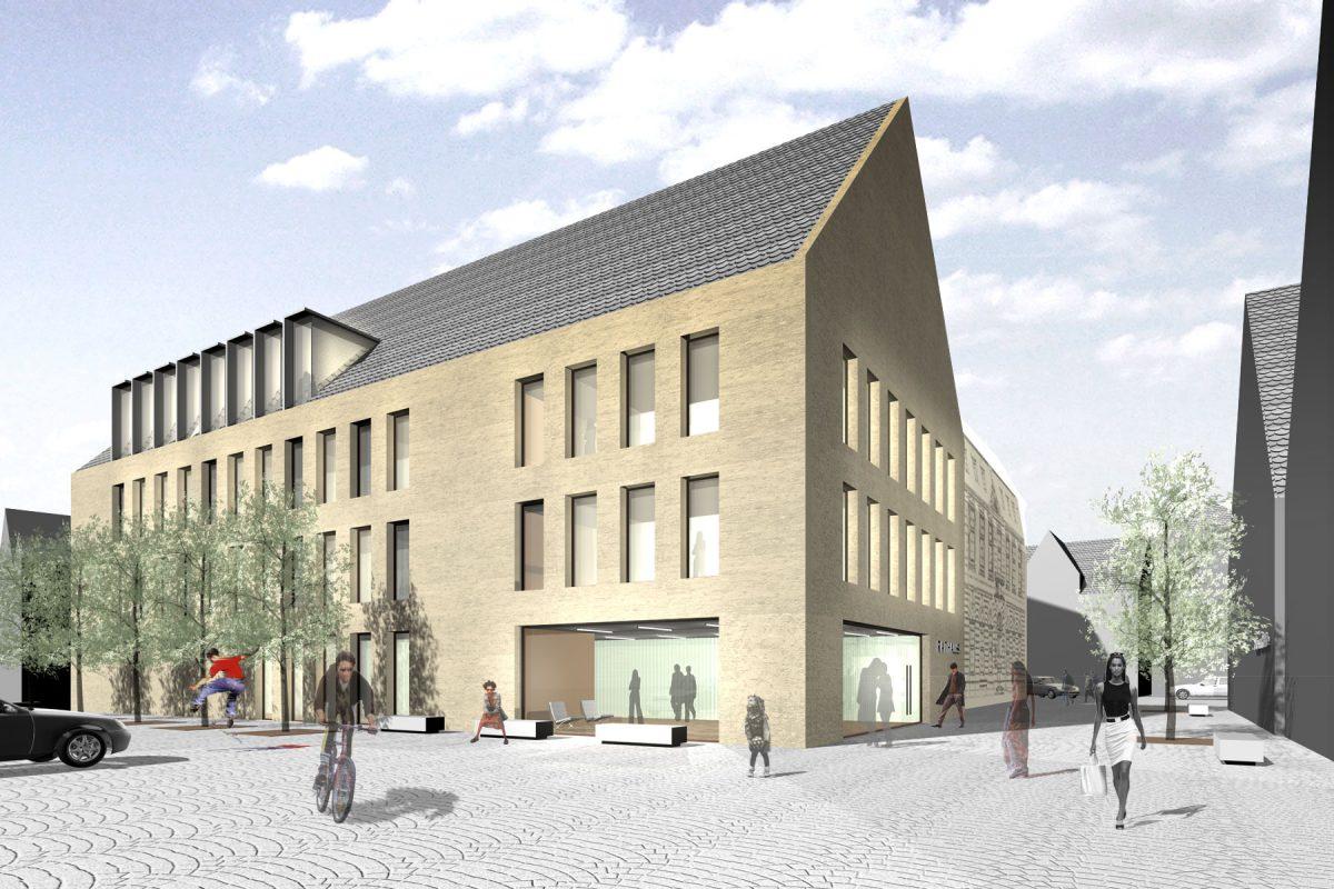 Rathaus Brackenheim Perspektive Aussen