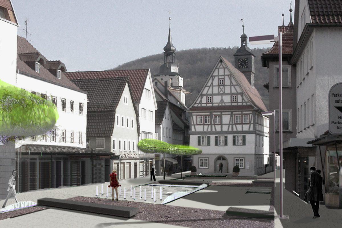 Hauptstrasse Kuenzelsau Ansicht Tag