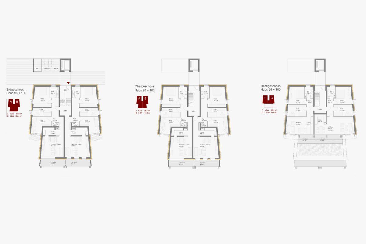 Punkthäuser Grundriss Haus 96