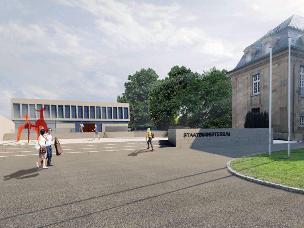Staatsministerium Stuttgart Perspektive