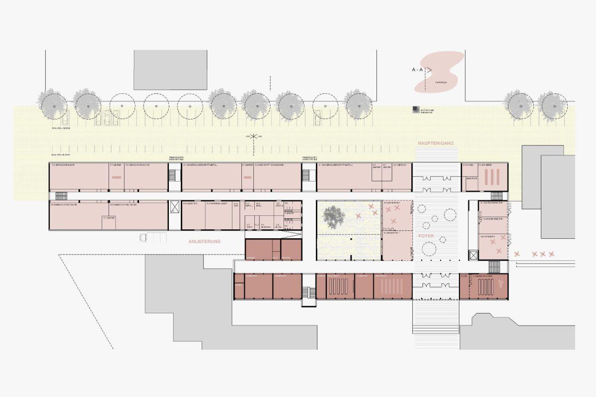 Erweiterung der Steinbeis Schule Grundriss