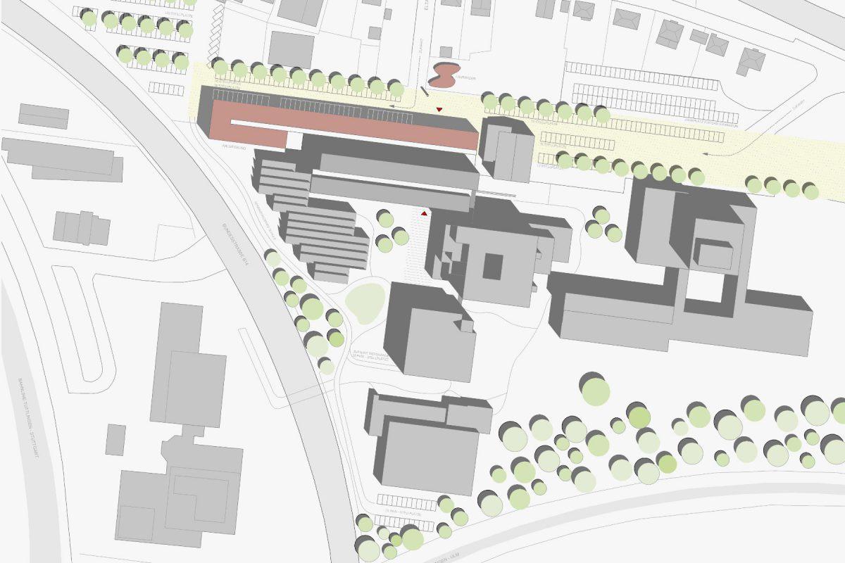 Erweiterung der Steinbeis Schule Lageplan